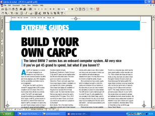 PC Extreme Issue 16 How To Make A CarPC / Carputer P48 - Follow the Vauxhall Vectra Carputer / CarPC Project through the highs and lows. Ideal for those looking at a simular MP3 GPS multimedia system for their car - Carputer project computer in-car Car-Puter car-pc car pc multimedia system mp3 dvd vcd svcd video games sound xenarc 700ts 7 inch touchscreen mini itx case winamp talisman invertor inverter usb ups welcome wireless LAN network VIA eden C3